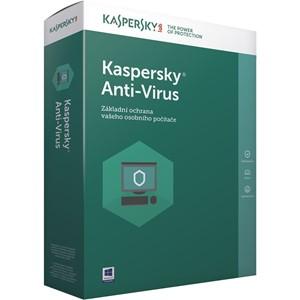 Obrázek Kaspersky Anti-virus 2018, licence pro nového uživatele, počet licencí 2, platnost 2 roky
