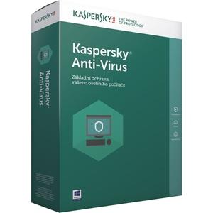 Obrázek Kaspersky Anti-virus 2018, obnovení licence, počet licencí 3, platnost 1 rok