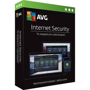 Obrázek AVG Internet Security 2021, obnovení licence, počet licencí 1, platnost 1 rok